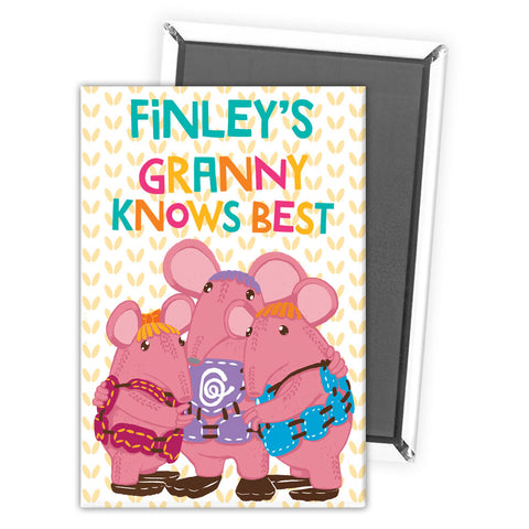 Granny Knows Best Clangers Personalised Magnet
