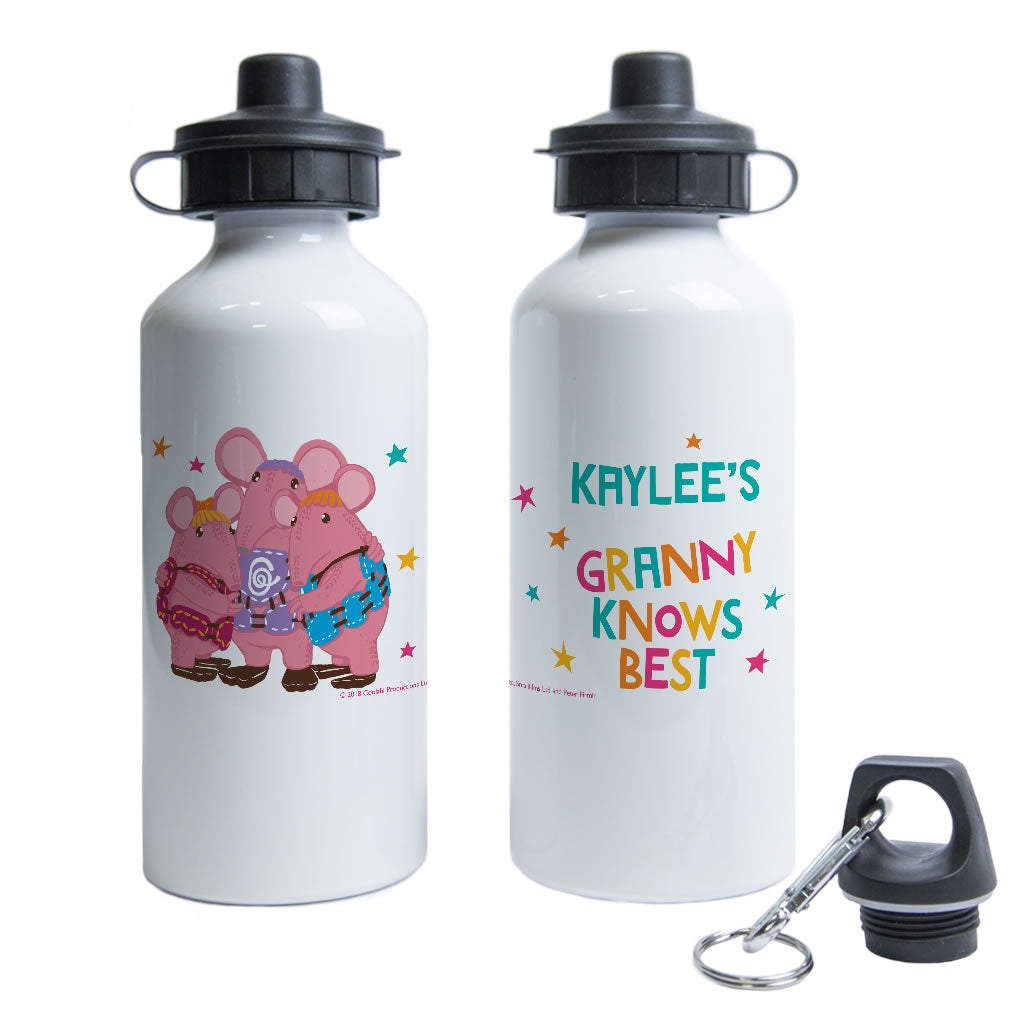 Granny Knows Best Clangers Personalised Water Bottle