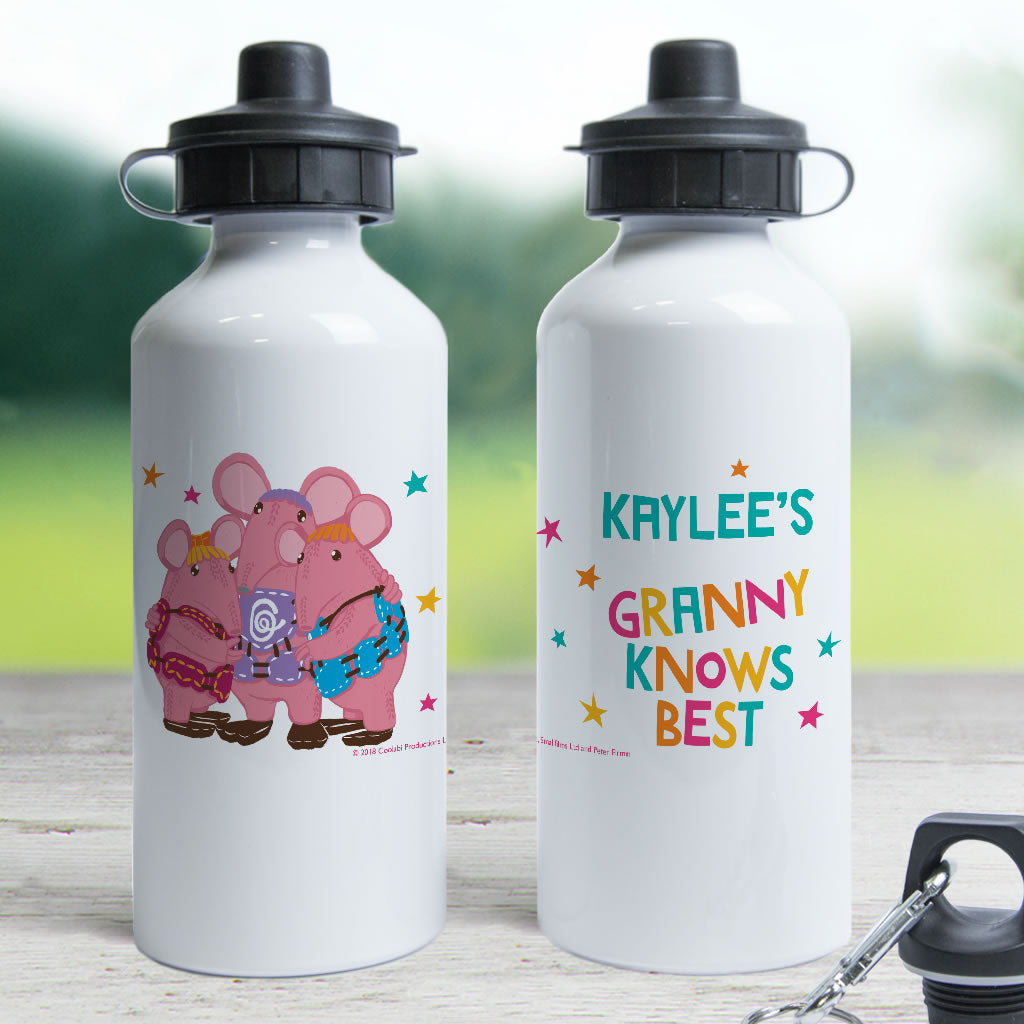 Granny Knows Best Clangers Personalised Water Bottle (Lifestyle)