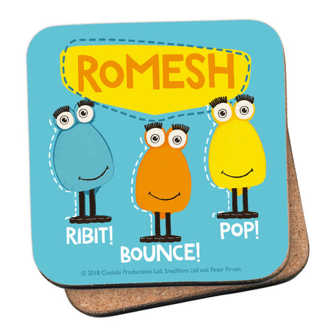 Froglet Clangers Personalised Coaster