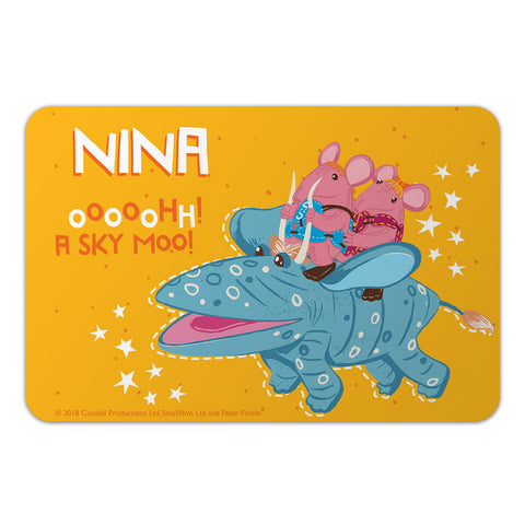 Sky Moo Clangers Personalised Door Plaque