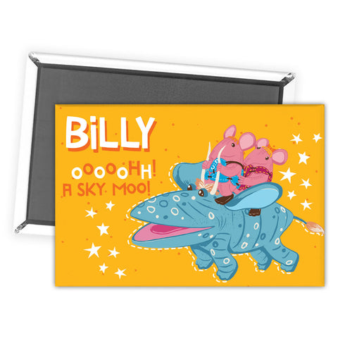 Sky Moo Clangers Personalised Magnet