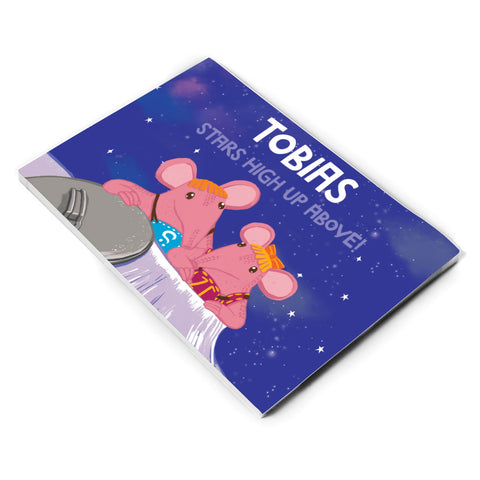 High Up Above Clangers Personalised A5 Note Pad