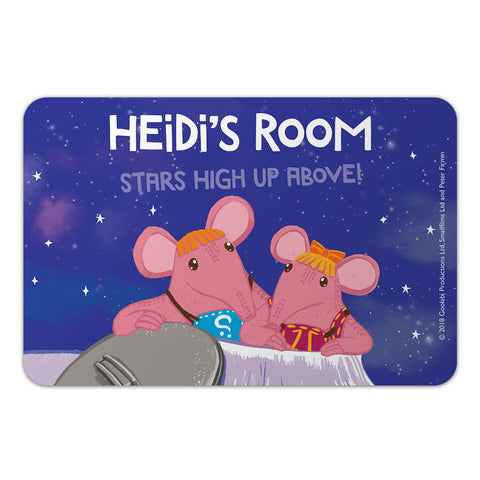 High Up Above Clangers Personalised Door Plaque