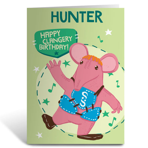 Whistle Hello Clangers Personalised Greeting Card