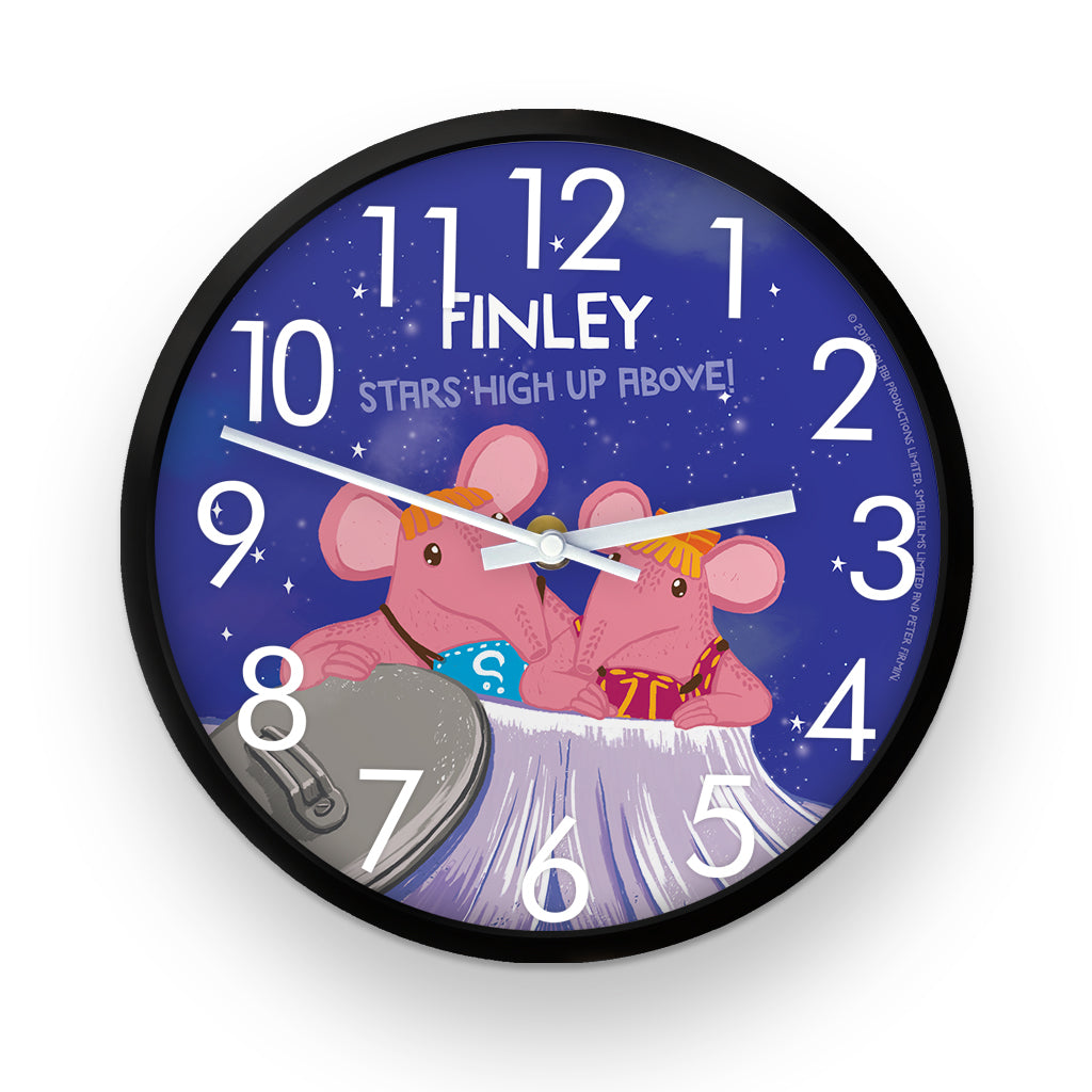High Up Above Clangers Personalised Clock