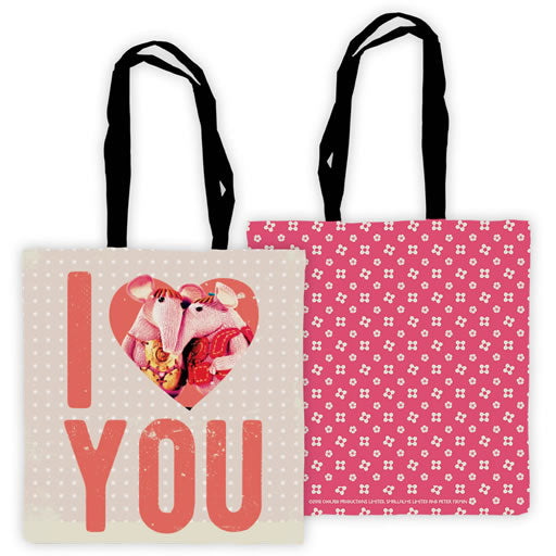 Love You Clangers Edge To Edge Tote Bag