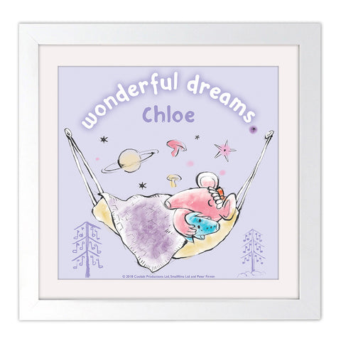 Clangers Dreams Personalised Square White Framed Art Print