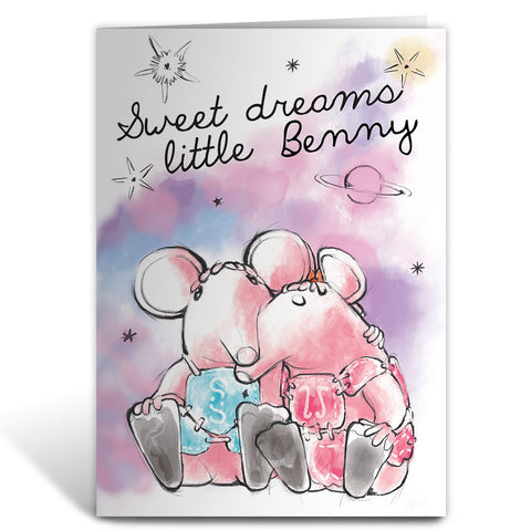 Clunk A Doodle Clangers Personalised Greeting Card