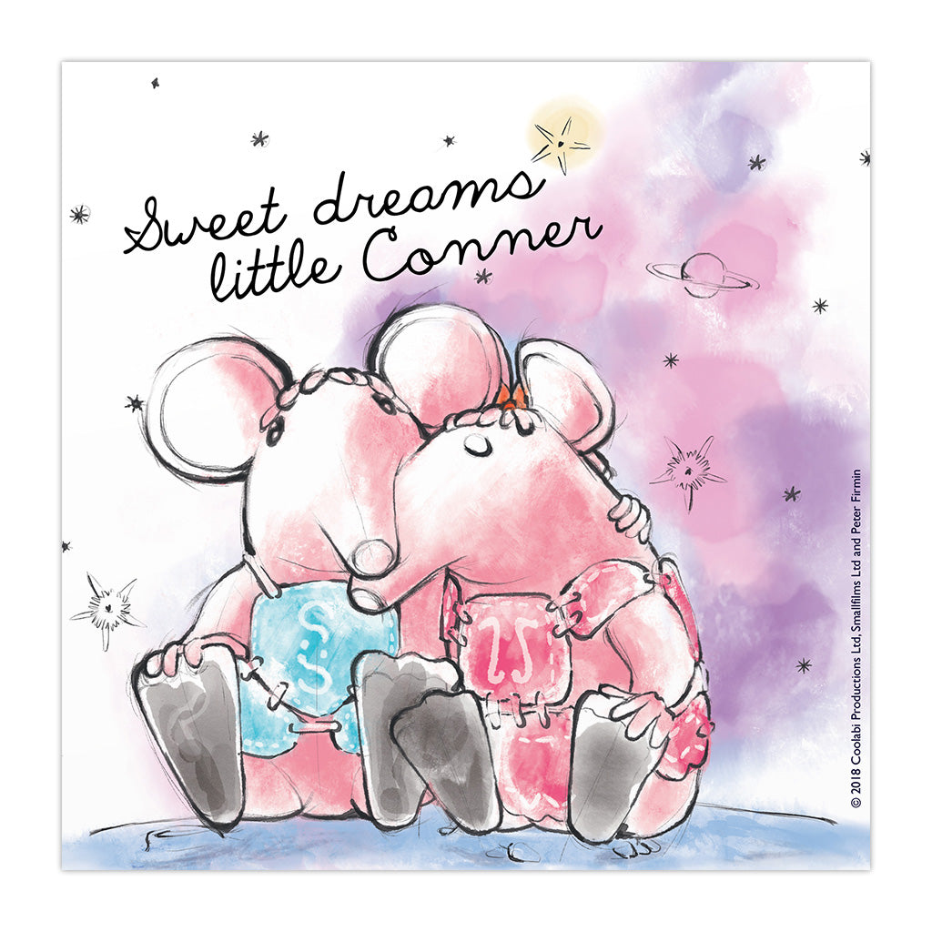 Clangers Dreams Personalised Square Art Print