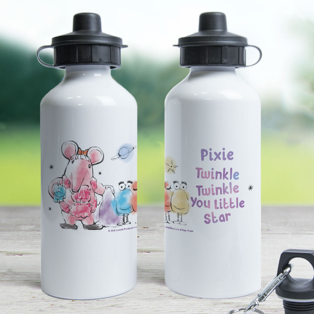 Clangers Free Hugs Personalised Water Bottle (Lifestyle)