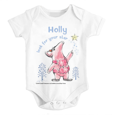 Clangers Star Personalised Babygrow