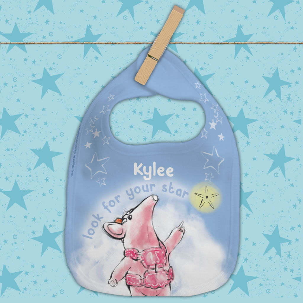 Clangers Star Personalised Bib (Lifestyle)