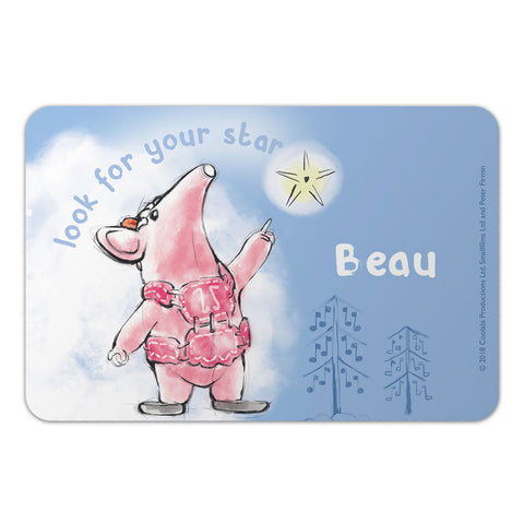 Clangers Star Personalised Door Plaque