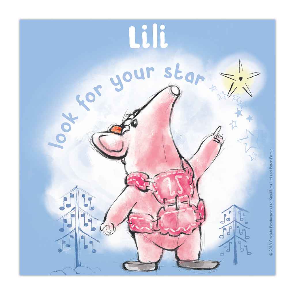 Clangers Star Personalised Square Art Print