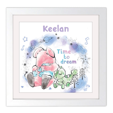 Clangers Dream Personalised Square White Framed Art Print