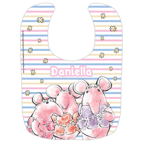 Clangers Stripe Personalised Bib