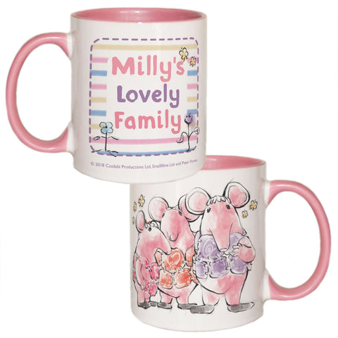 Clangers Family Personalised Coloured Insert Mug