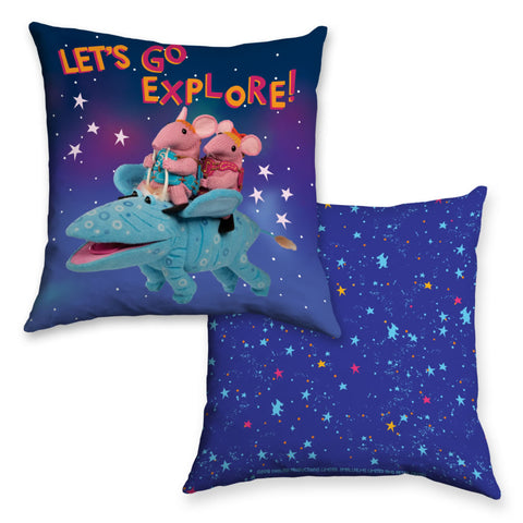 Let's Go Explore Clangers Cushion