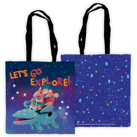 Let's Go Explore Clangers Edge To Edge Tote Bag