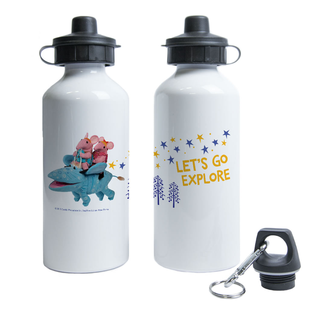 Let's Go Explore Clangers Water Bottle