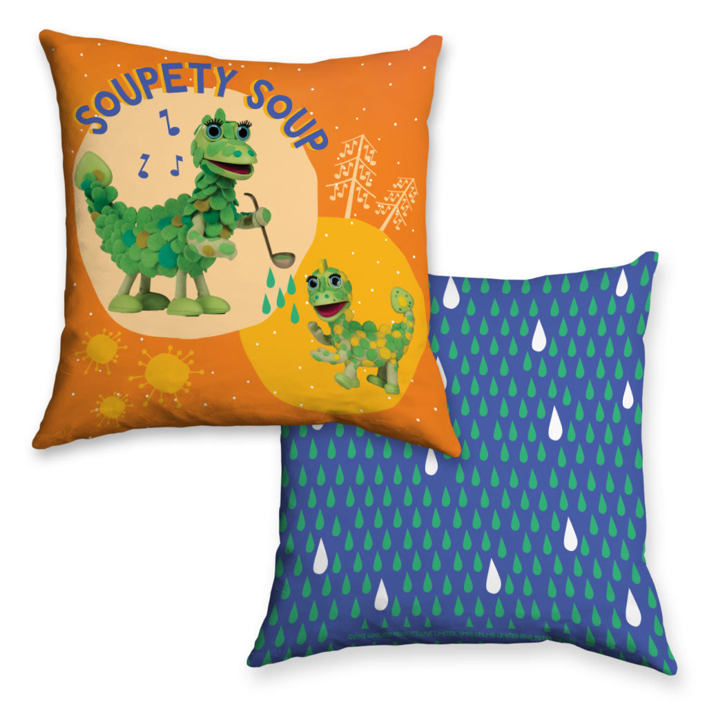 Soupety Soup Clangers Cushion (Lifestyle)