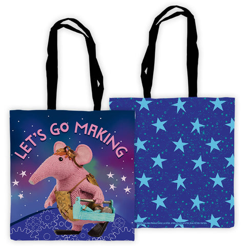 Let's Go Making Clangers Edge To Edge Tote Bag