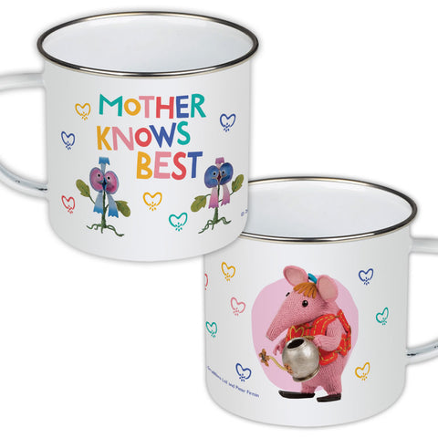 Mother Knows Best Clangers Enamel Mug