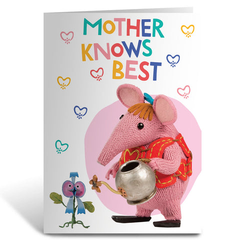 Mother Knows Best Clangers Greeting Card