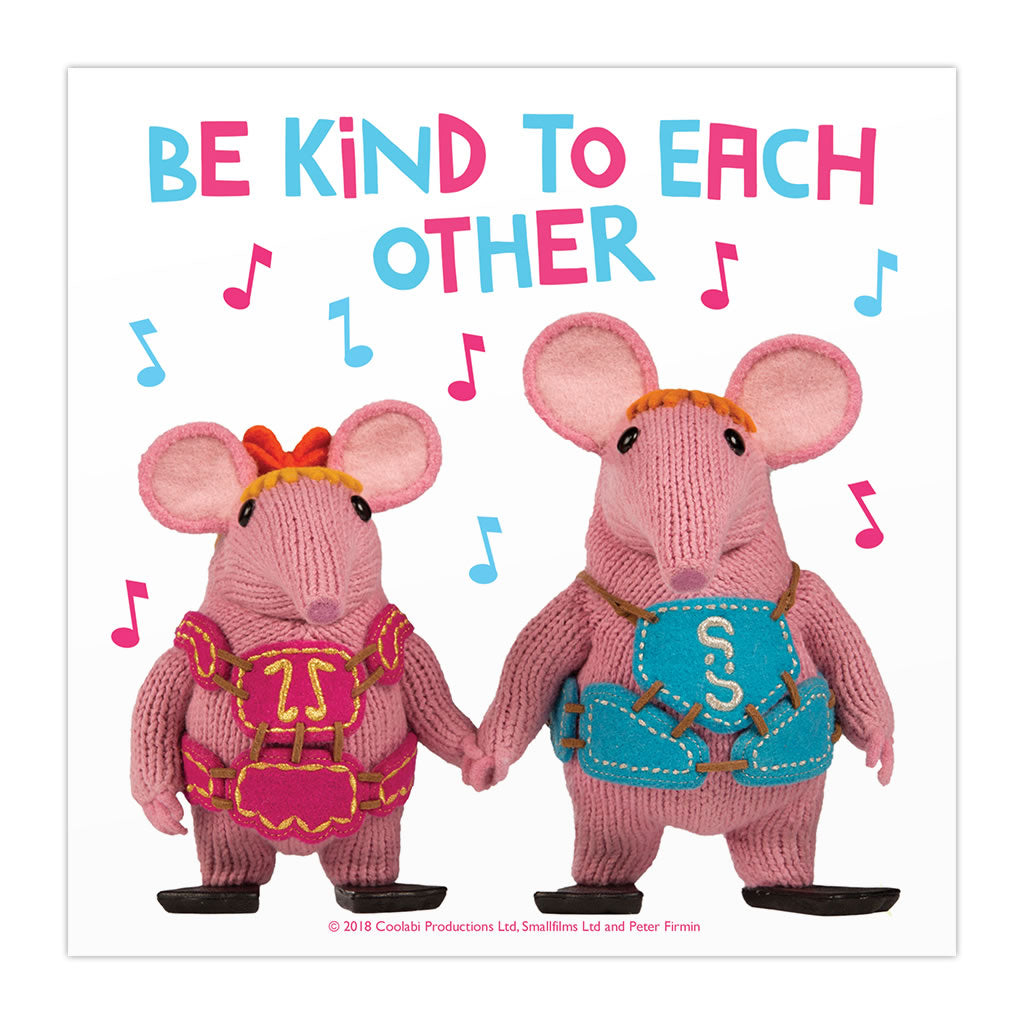Be Kind Clangers Square Art Print