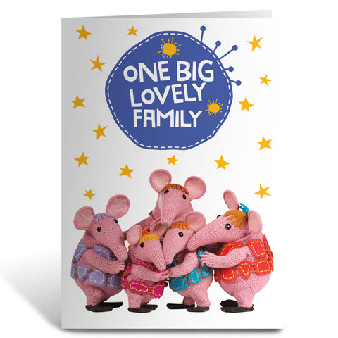 Family Clangers Greeting Card