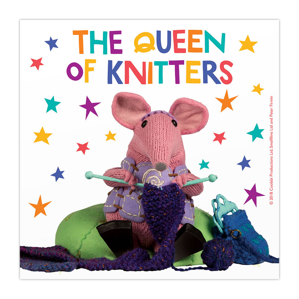 The Queen of Knitters Clangers Square Art Print