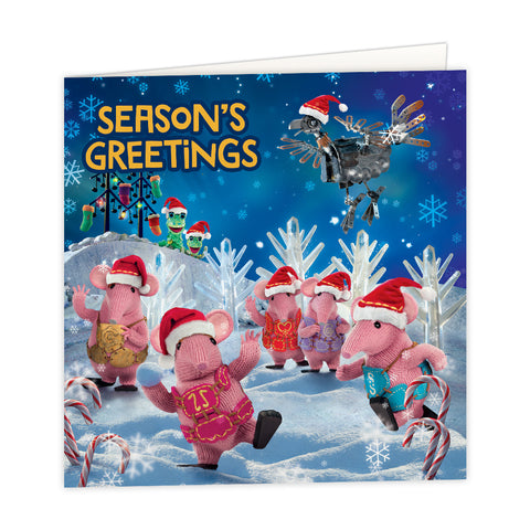 Season's Greetings Clangers Square Greeting Card