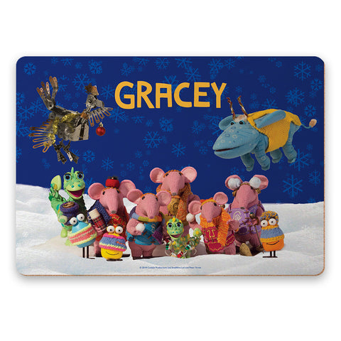 Season's Greetings Clangers Personalised Placemat