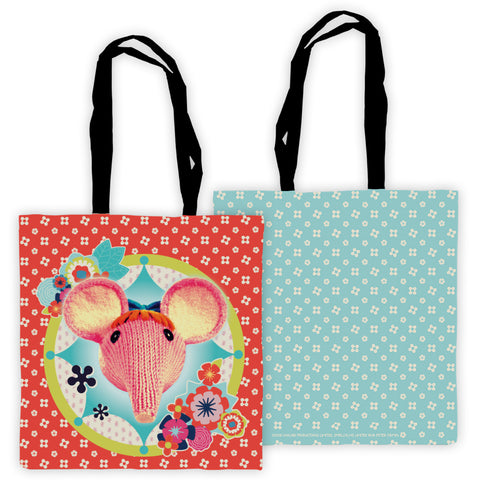 Hearts and Flowers Clangers Edge To Edge Tote Bag
