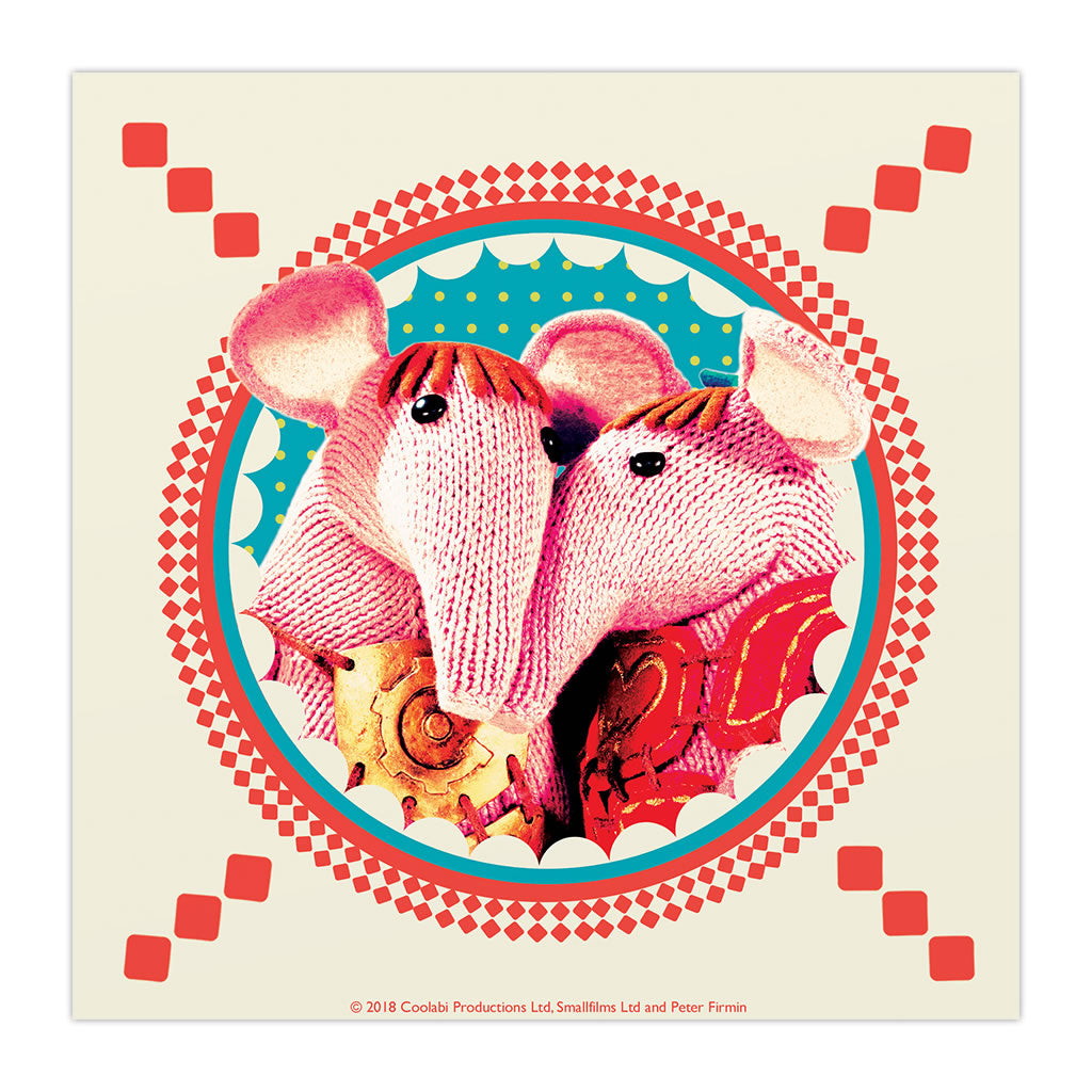Clangers Square Art Print