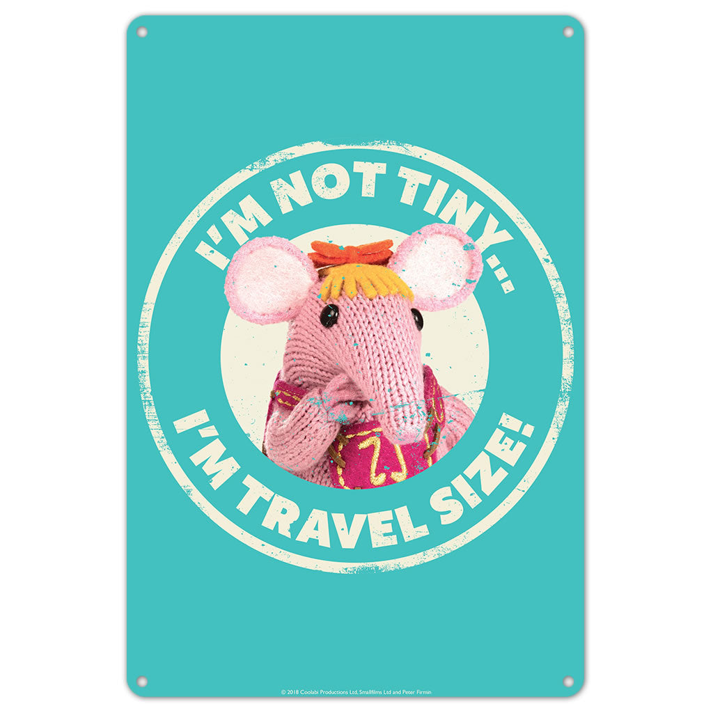 Not Tiny Clangers Metal Sign (Lifestyle)