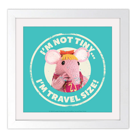 Not Tiny Clangers Square White Framed Art Print