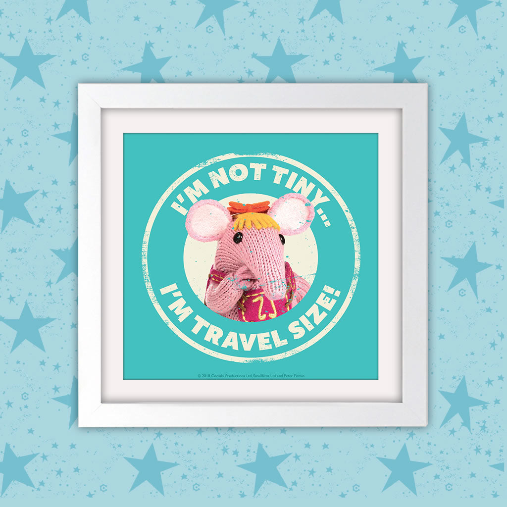 Not Tiny Clangers Square White Framed Art Print (Lifestyle)