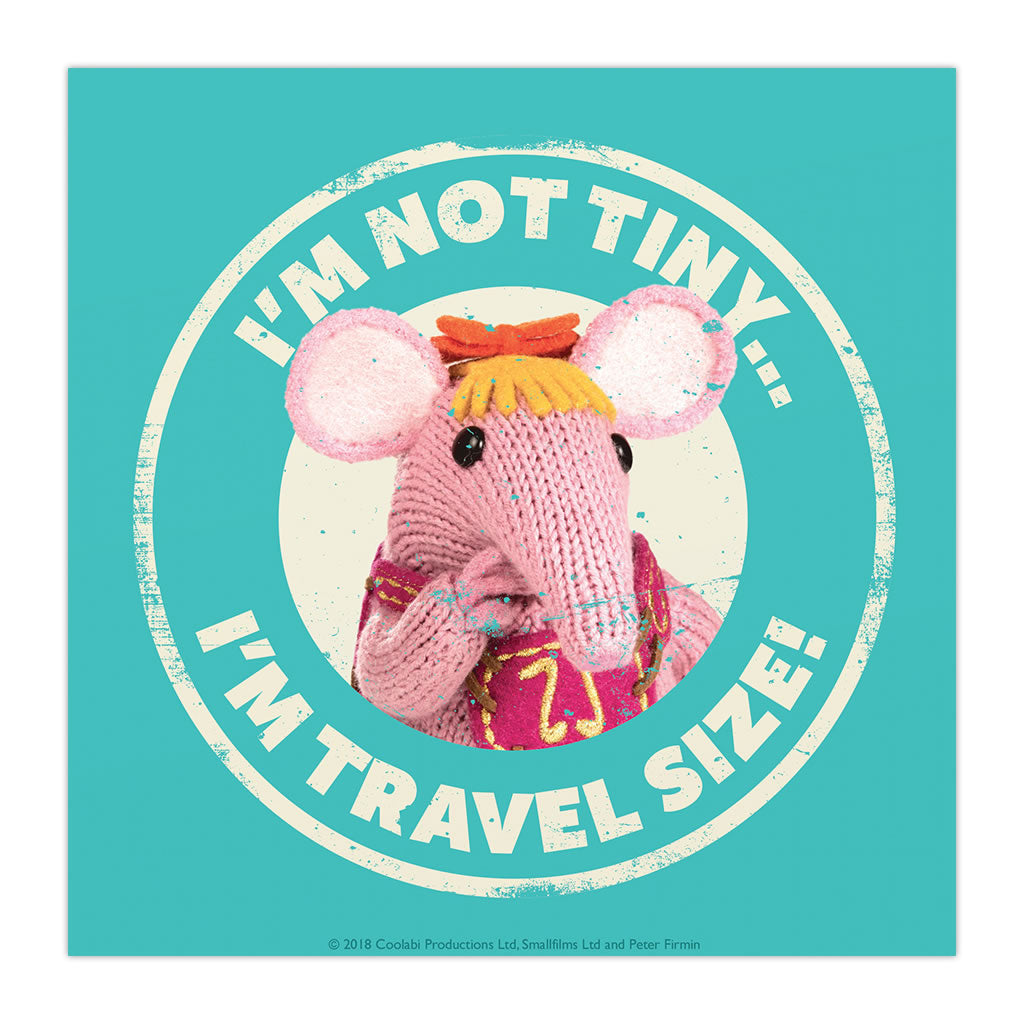 Not Tiny Clangers Square Art Print