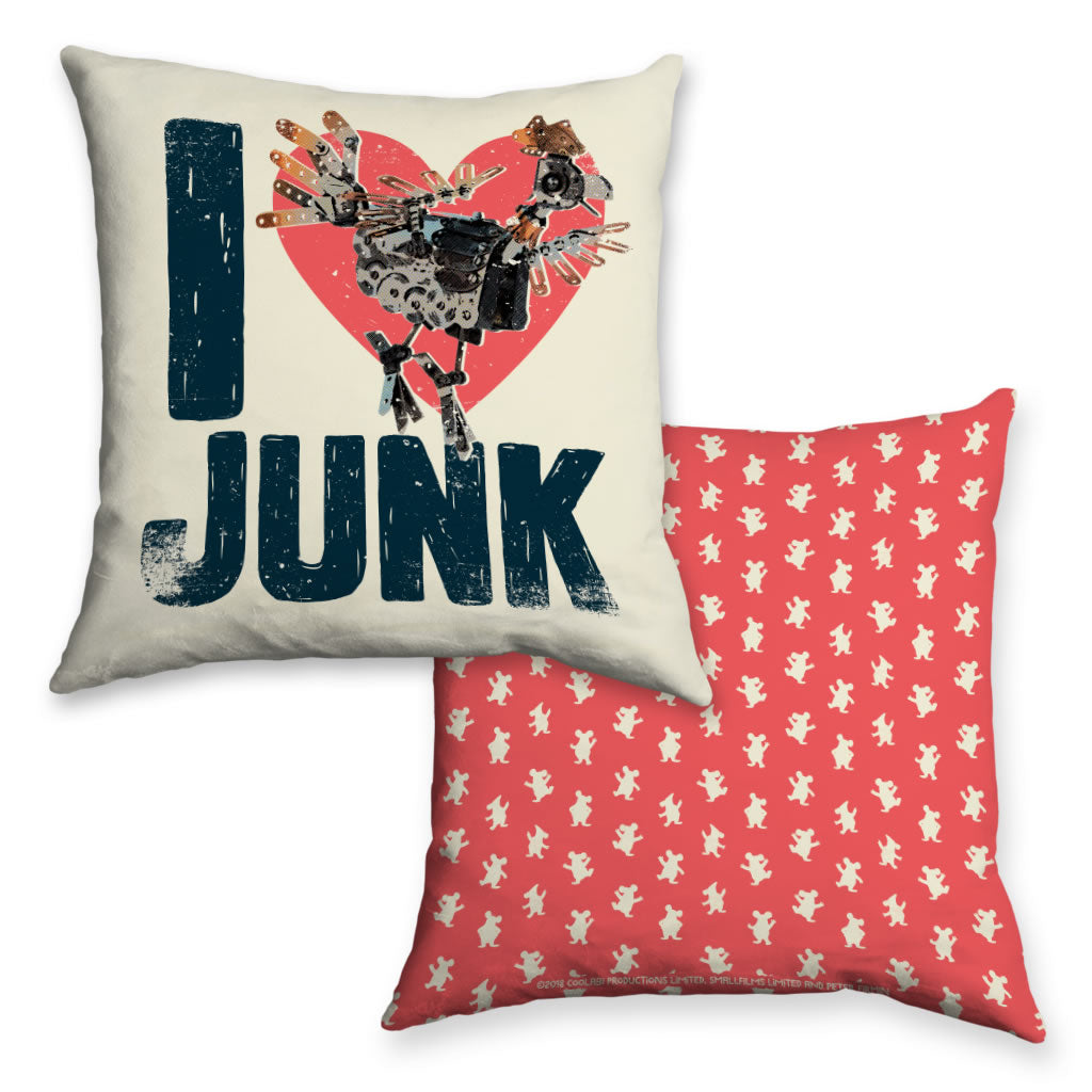 I Love Junk Clangers Cushion