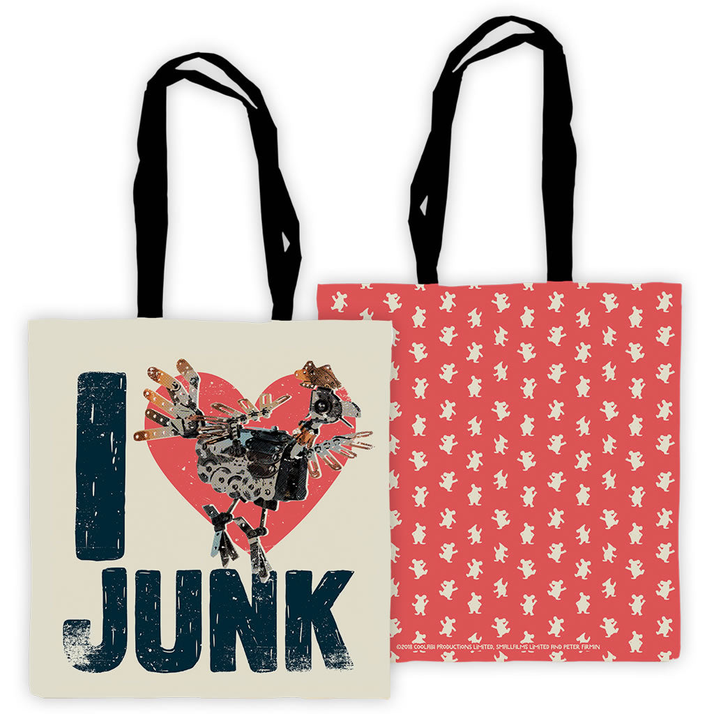 I Love Junk Clangers Edge To Edge Tote Bag