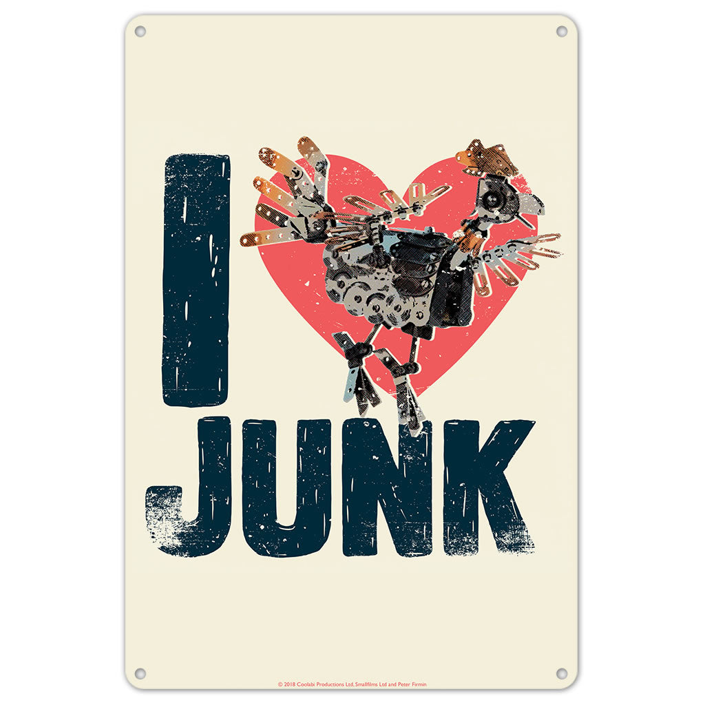 I Love Junk Clangers Metal Sign
