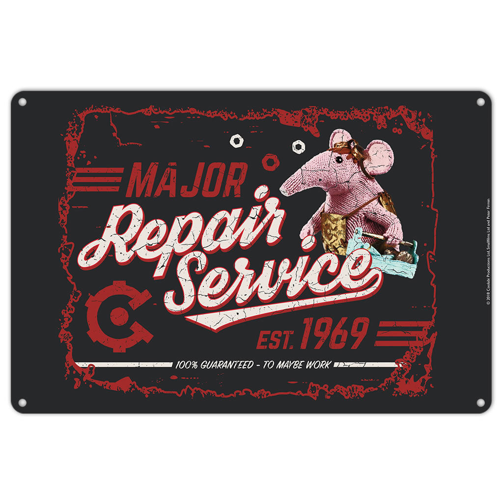 Repair Service Clangers Metal Sign (Lifestyle)