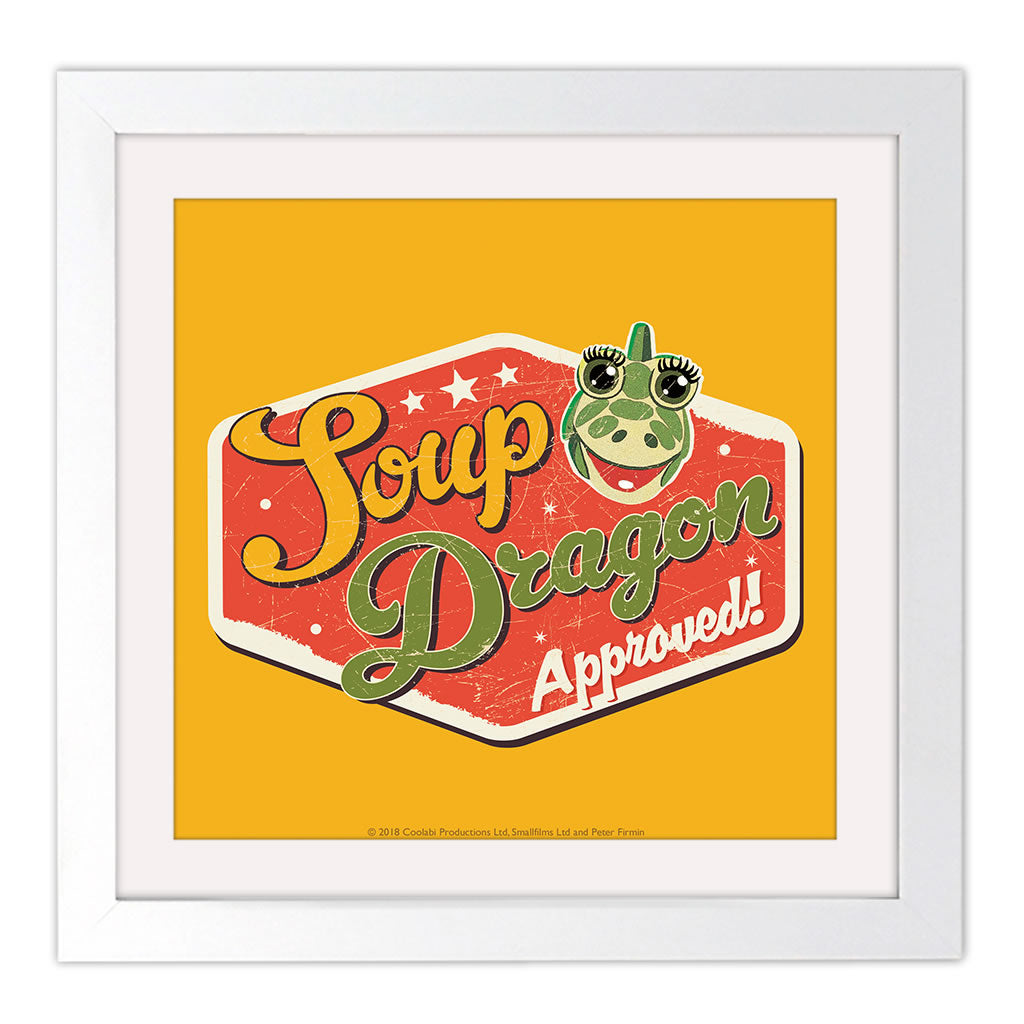 Soup Dragon Clangers Square White Framed Art Print