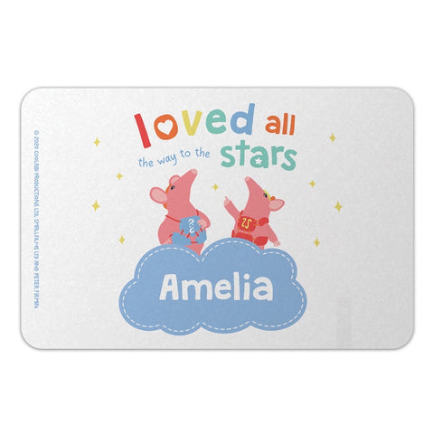 Clangers Stars Personalised Door Plaque