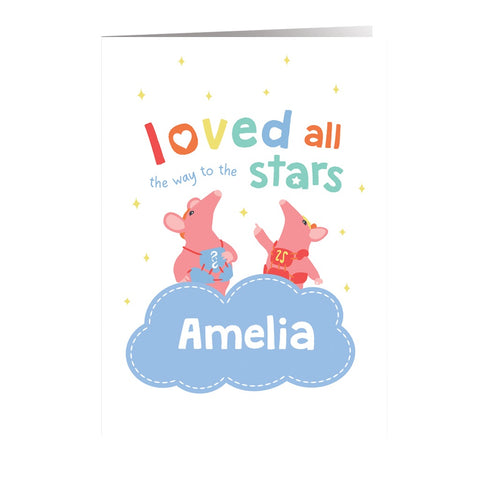 Clangers Stars Personalised Greeting Card