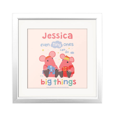 Clangers Tiny Ones Personalised Square Art Print Personalised Square Art Print