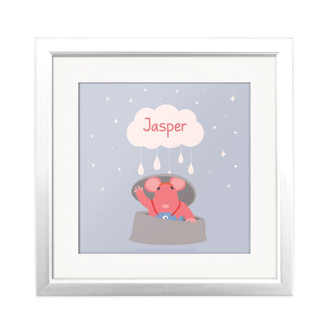 Clangers Cloud Personalised Square Art Print Personalised Square Art Print