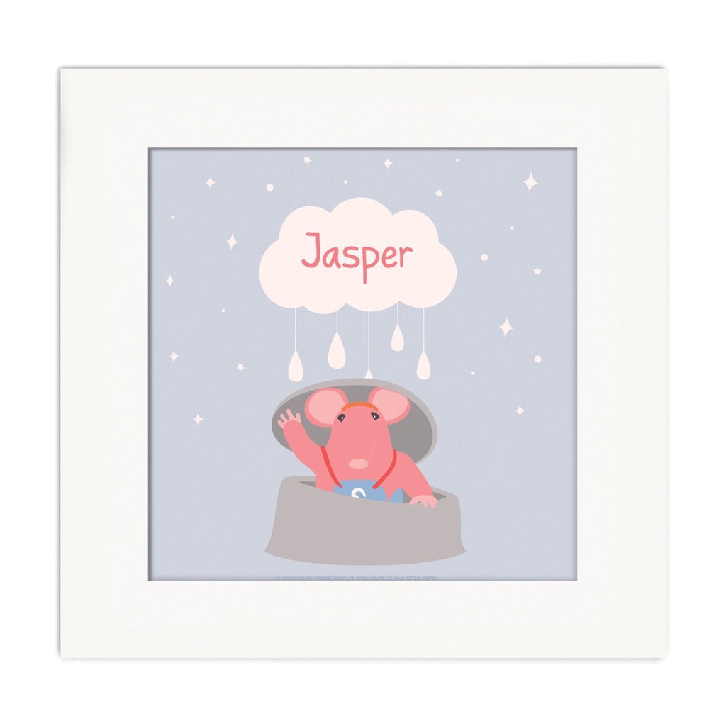 Clangers Cloud Personalised Square Art Print Personalised Square Art Print 2